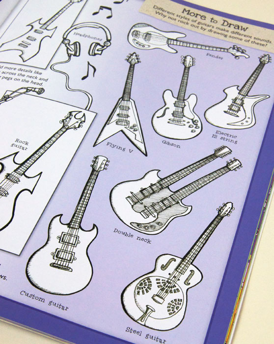 A selection of guitars illustrated buy Fiona Gowen