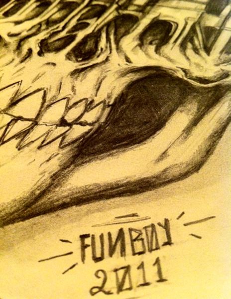 Funboy Funboyartworks Skullosseum skateboard Worldcupskateboarding Colosseo teschio colosseoteschio teschiocolosseo FINEART