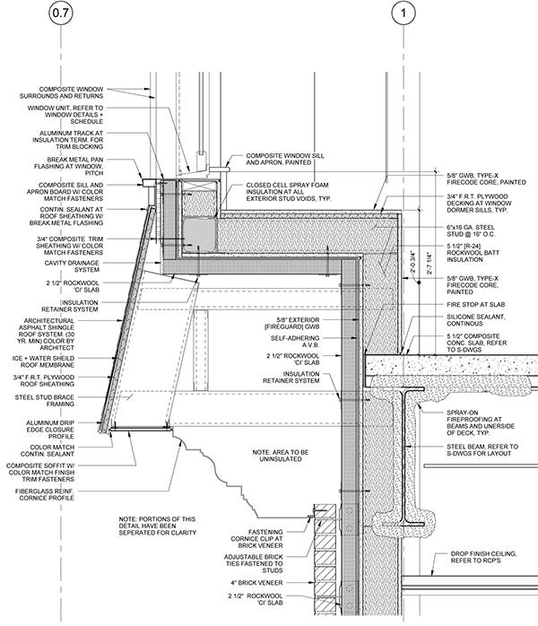 Line work on behance for Mansard roof section