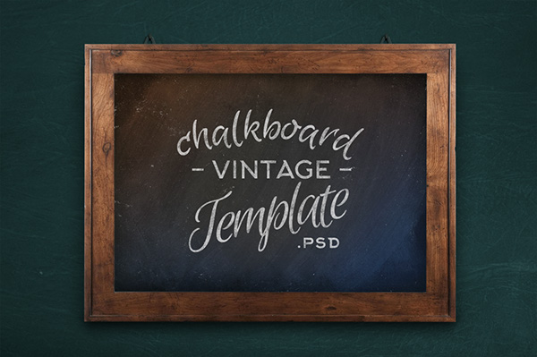Chalkboard Vintage Mock Up Template On Behance