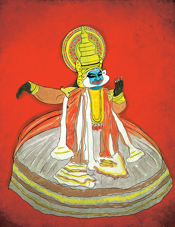 Kerala Traditional Dance Kathakali Drawing On Behance