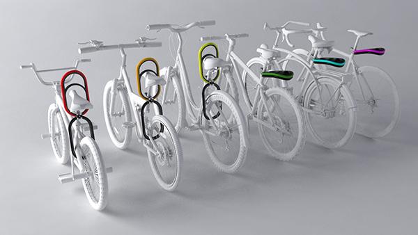 Bike anti-theft lock enever