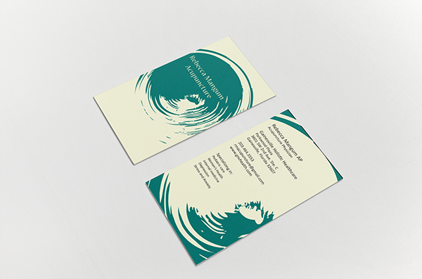 Acupuncture business card on behance for Acupuncture business cards