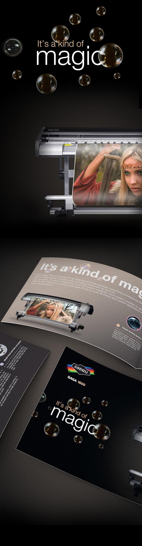 saga printer large format brochure