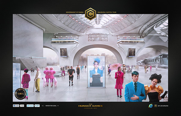 the hunger games the capitol tour alvin groen frozen emotion chad tafolla ignition interactive lions gate gold html5 welcome host Welcome Center control room avenue tributes