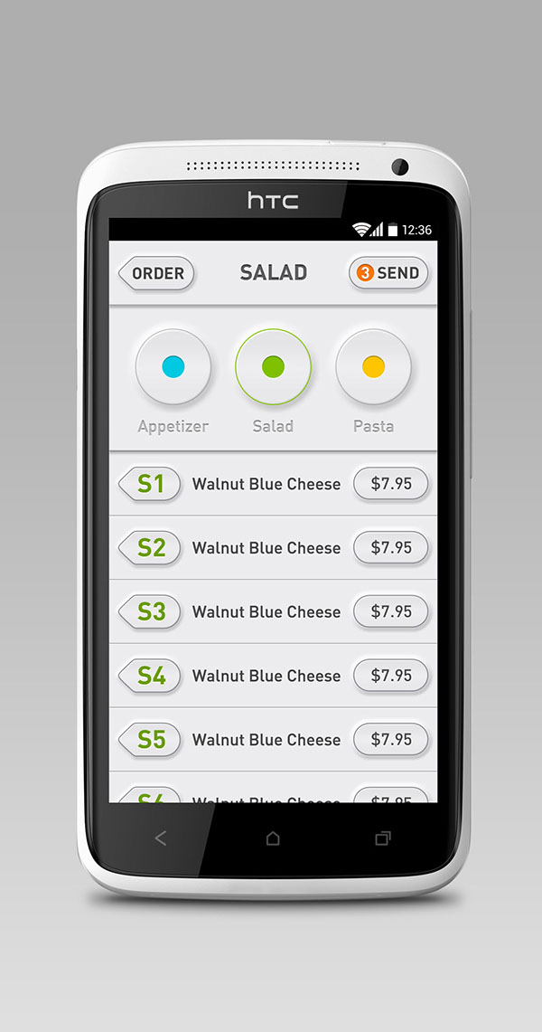 Pos app android ui design on behance