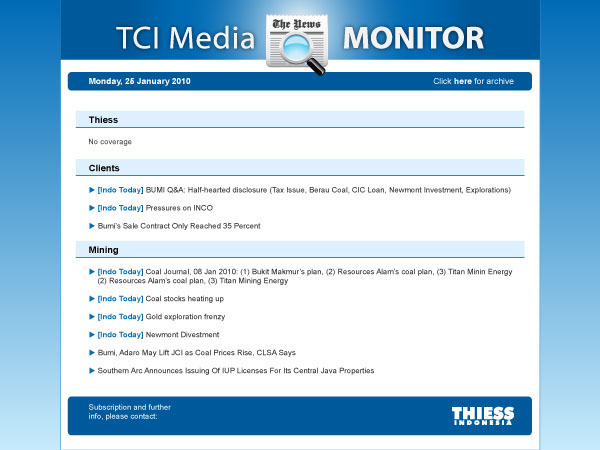 Media Monitoring Report Template On Behance