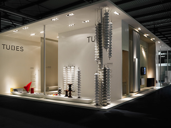Exhibition Stand Design Furniture : Tubes stand salone on behance