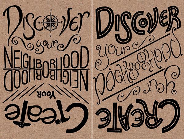 lettering flier postcard