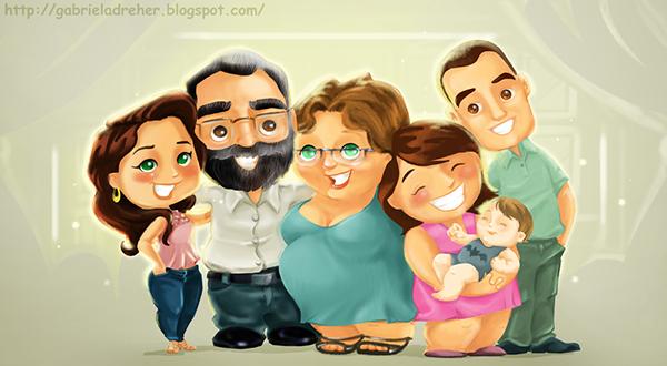 Family Cartoon of 7 Cartoon Family on Behance