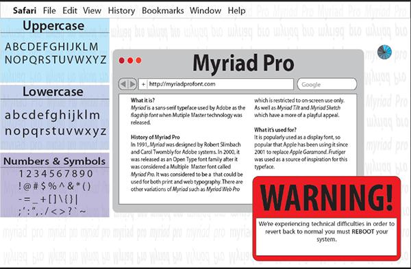 Myriad Pro Type Specimen Poster on Behance