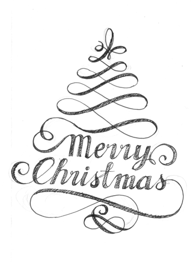 Christmas time on typography served