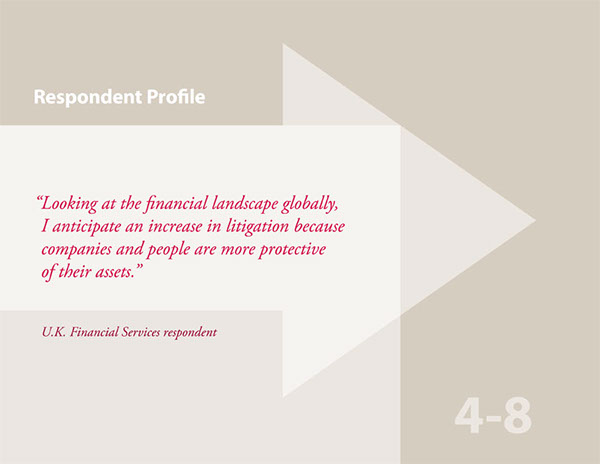 attorneys litigation trends report Interactive PDF arrows geometric pattern law
