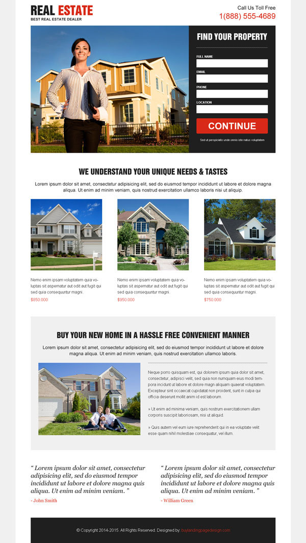 Best 6 real estate landing page design templates 4 sale on Behance