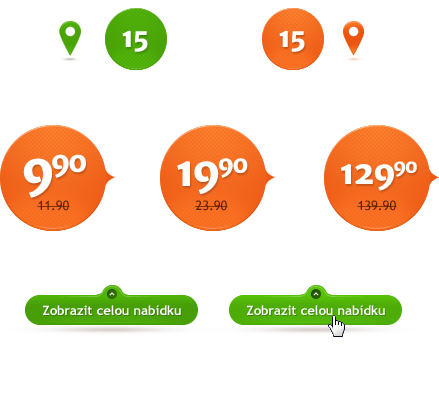 Supermarket Website clean orange Nature mobile