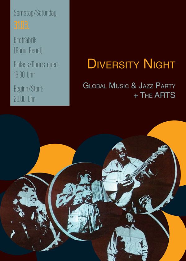 Diversity party Layout flyer poster silent colour