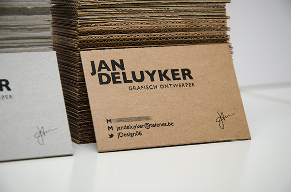Business cards screen printing on behance corrugated cardboard black colourmoves