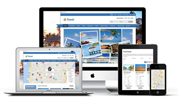 Responsive Travel Directory Portal WordPress Theme on Behance