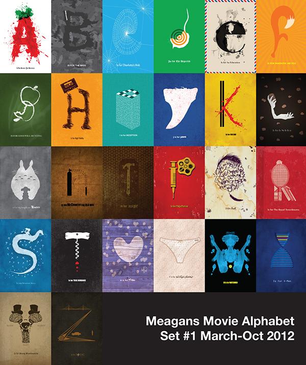 meagan 39 s movie alphabet on behance. Black Bedroom Furniture Sets. Home Design Ideas