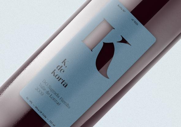 korta wine chile Icon signature design Label Diecut