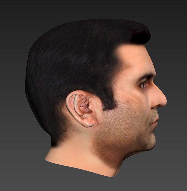 Face modeling in 3ds max on student show for 3ds max face modeling