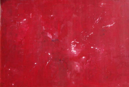 red from born to death canvas wood mixed media acrylic artwork textures