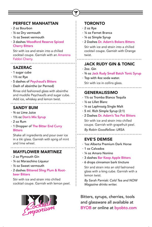 postcard typography cocktails