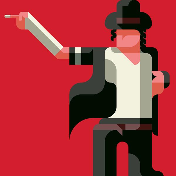 Michael Jackson michael flat flatdesign MJ