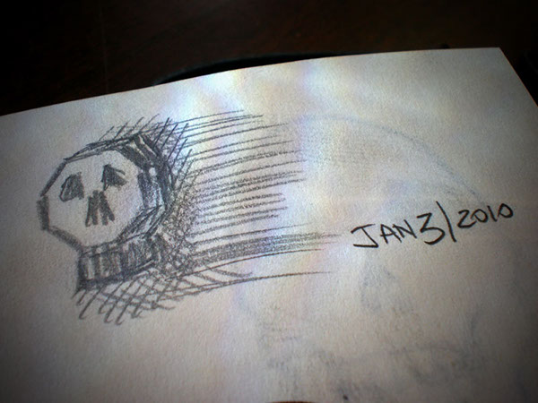 skull sketching drawing a day