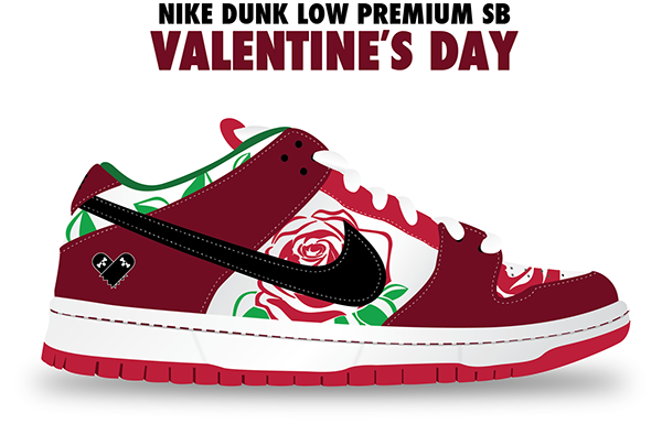 Nike Dunk Low Sb Valentines Musee Des Impressionnismes Giverny
