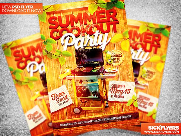 Summer Cookout Flyer Template PSD on Behance