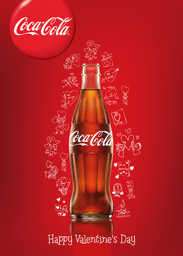 coca-cola valentine's day posters on behance, Ideas