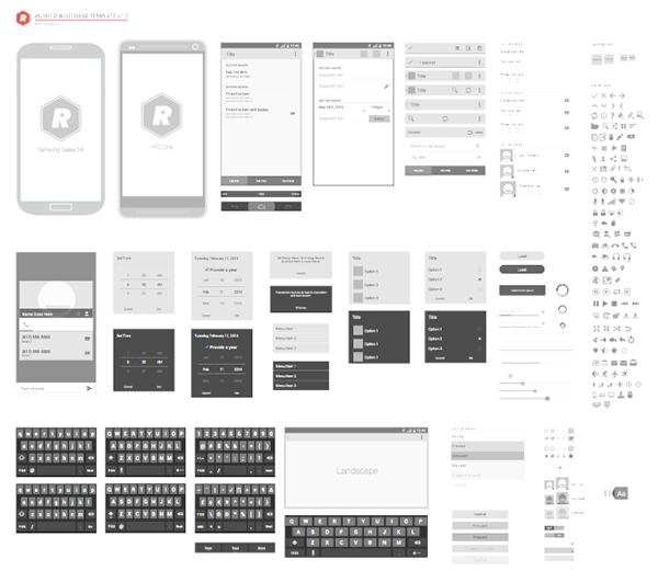 Vector wireframing templates on behance iphone wireframing template pronofoot35fo Choice Image