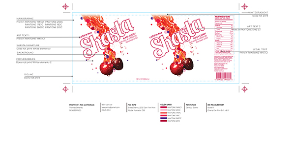 Shasta soda rebrand on student show for Edesign login