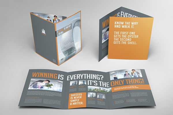 Business image trifold brochure on behance for 6 page brochure template