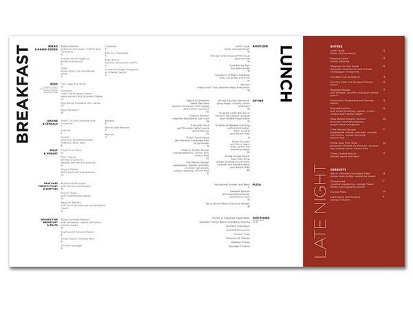 Mercer Kitchen Menu Redesign On Fit Portfolios