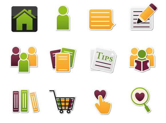 T-Shirt designs banners DVD sets icons ILLUSTRATION