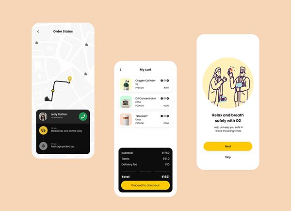 Oxygen Delivery App   UI Design