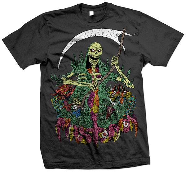 heavy metal mastodon tee design skull