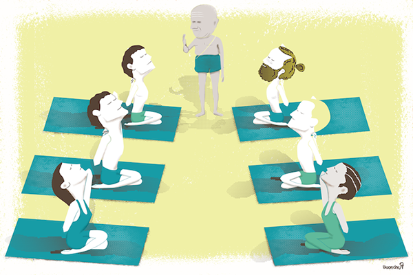 Ashtanga yoga illustrations on Behance