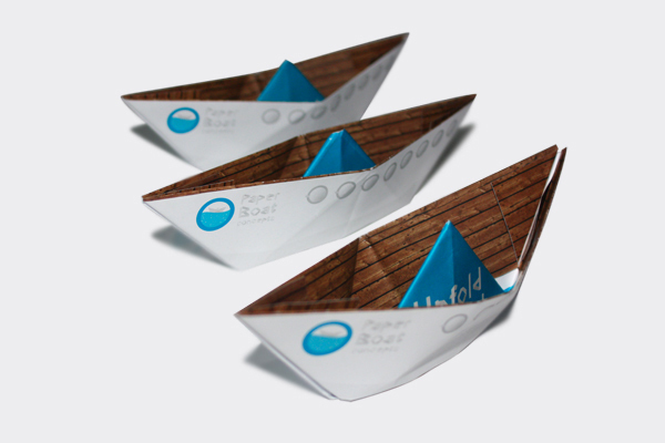 Paper boat concepts on behance to introduce paper boat concepts to the prospects ive set up this unique mailing in the form of of course a paper boat no text is visible when closed malvernweather Choice Image
