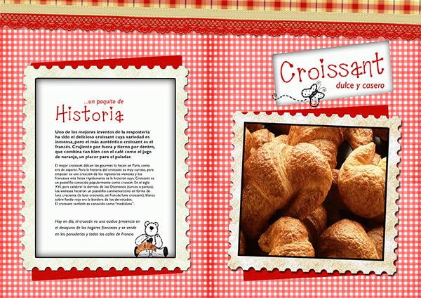 Dise o de una receta de cocina croissant on behance - Diseno de una cocina ...