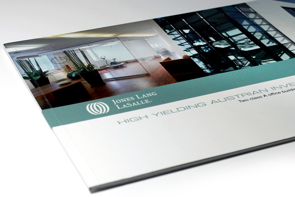 Commercial Property Investment Brochure on Pantone Canvas