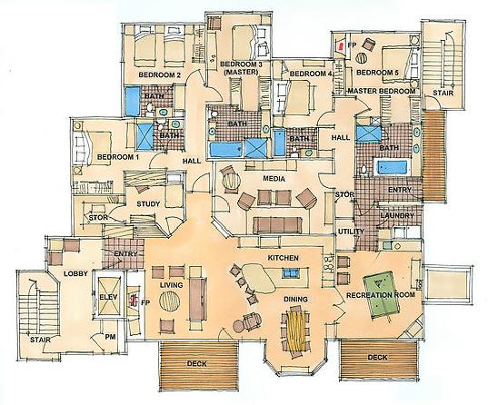 floor plan on behance. Black Bedroom Furniture Sets. Home Design Ideas
