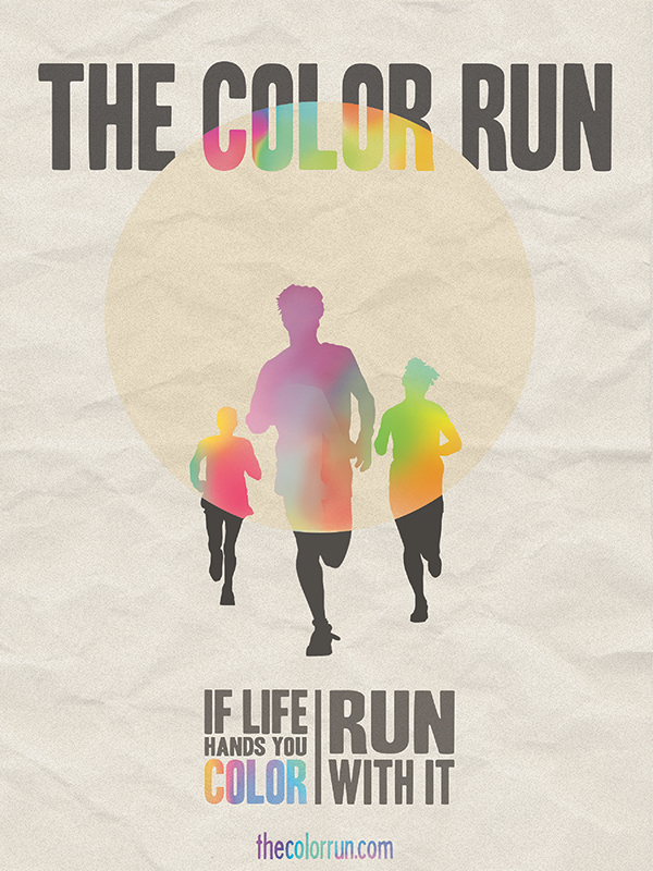 The Color Run Poster On Behance