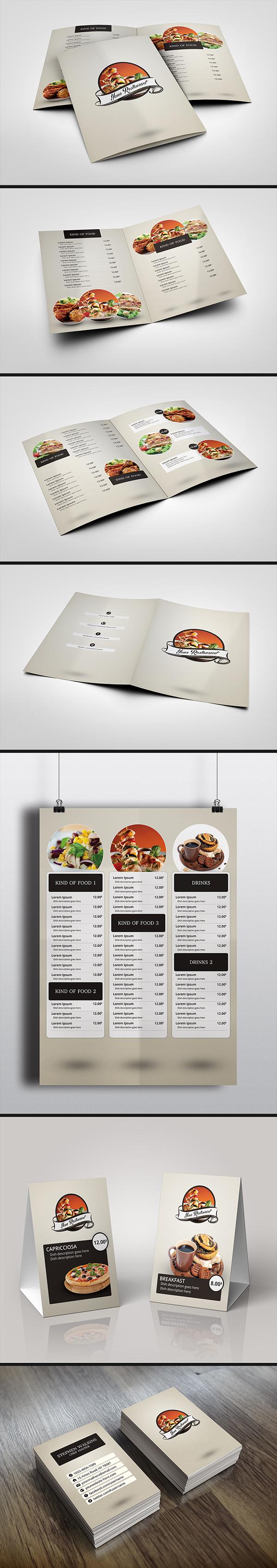 Clean Elegant Restaurant Menu Design On Behance