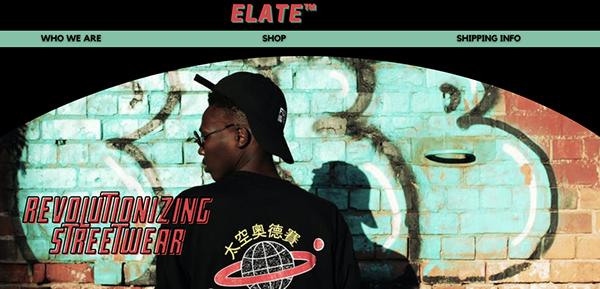 Elate Streetwear Brand Website