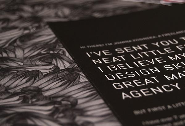self-marketing print flyer Flyer Design portfolio Self Promotion