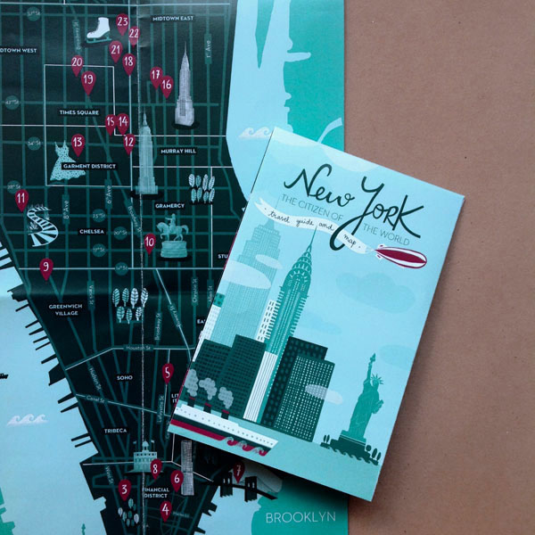 Citizen of the world nyc travel guide map on behance gumiabroncs Choice Image