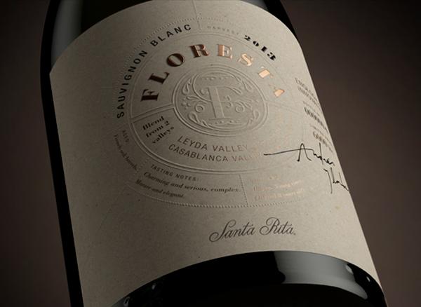 parterre floresta chile wine jardines garden vino lettering latinoamerica etiqueta Label alta gama premium